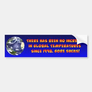 Anti Global Warming Car Bumper Sticker