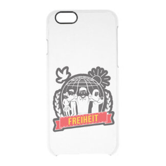 ANTI-GLOBALISIERUNG FREIHEIT/FREEDOM - DEUTSCHLAND CLEAR iPhone 6/6S CASE