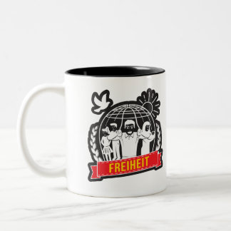 ANTI-GLOBALISIERUNG FREIHEIT/FREEDOM - DEUTSCHLAND Two-Tone COFFEE MUG