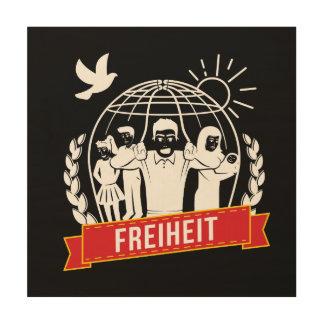 ANTI-GLOBALISIERUNG FREIHEIT/FREEDOM - DEUTSCHLAND WOOD WALL ART