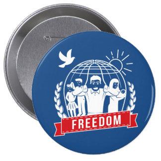 ANTI-GLOBALISM/FREEDOM - Inglaterra, los E.E.U.U. Pin Redondo De 4 Pulgadas