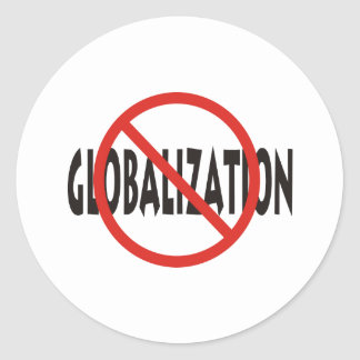 Anti-Globalization Classic Round Sticker