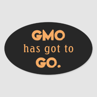 Anti GMO Oval Sticker