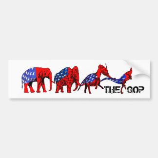 Anti-GOP Anti-Republican Evolution Satire Car Bumper Sticker