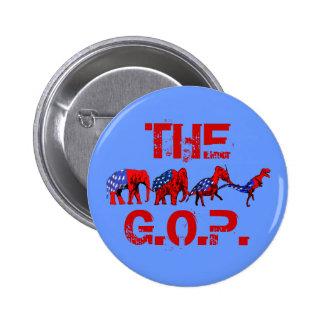Anti-GOP Anti-Republican Evolution Satire Button