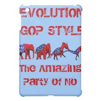 Anti-GOP Anti-Republican Evolution Satire iPad Mini Cases