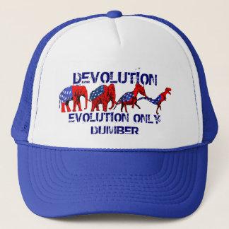 Anti-GOP Anti-Republican Evolution Satire Trucker Hat