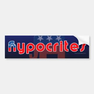 Anti-GOP Hypocrites Bumper Sticker Car Bumper Sticker