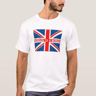 Anti Gordon Brown-Gordon is a moron T-Shirt