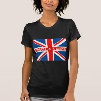 Anti Gordon Brown patriotic British flag T-Shirt