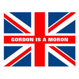 Anti Gordon Brown Postcard