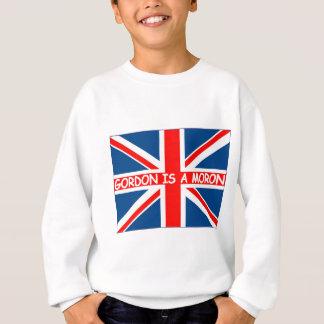 Anti Gordon Brown Union Jack British humour Sweatshirt