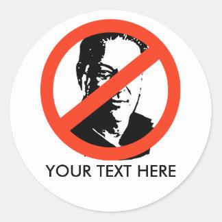 ANTI-GORE: Anti-Al Gore Round Sticker