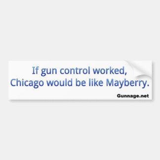 Anti Gun Control Bumper Sticker - Chicago - Blue