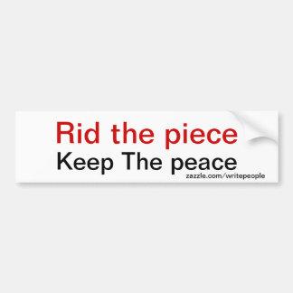 Anti gun slogans bumper sticker car bumper sticker