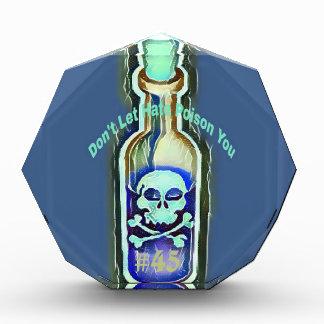 Anti Hate Quote Toxic #45 Medicine Bottle Award