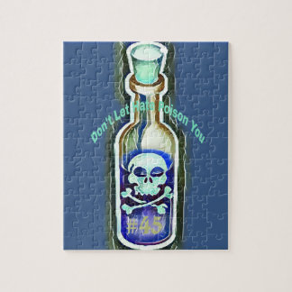 Anti Hate Quote Toxic #45 Medicine Bottle Jigsaw Puzzle