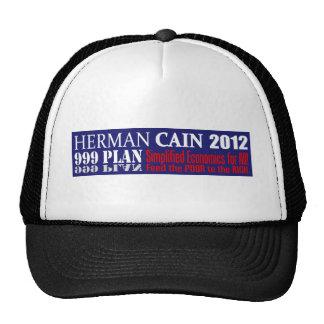 Anti Herman Cain 2012 President 999 PLAN Design Mesh Hat