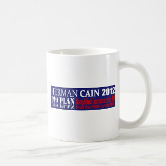 Anti Herman Cain 2012 President 999 PLAN Design Classic White Coffee Mug
