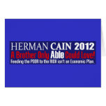 Anti Herman Cain 2012 President ABLE Design Greeting Cards