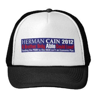 Anti Herman Cain 2012 President ABLE Design Mesh Hats