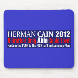 Anti Herman Cain 2012 President ABLE Design Mouse Pad