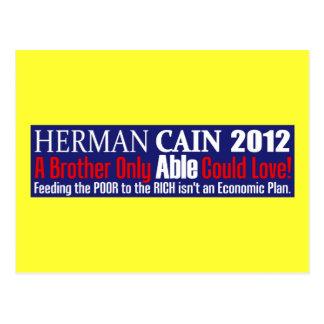 Anti Herman Cain 2012 President ABLE Design Postcard