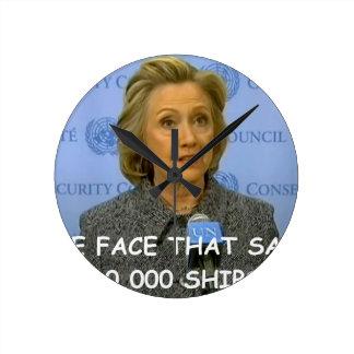 anti hilary clinton round clock