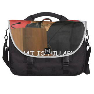 anti hilary clinton laptop messenger bag