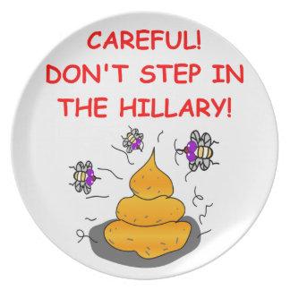 anti hilary clinton plates