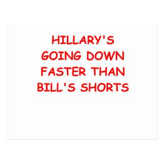 anti hilary clinton postcard