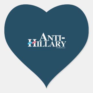 ANTI-HILLARY Banner - Anti Hillary Heart Sticker