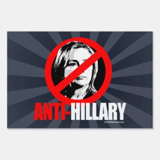 ANTI-HILLARY - blanco anti del png de Hillary - Señal
