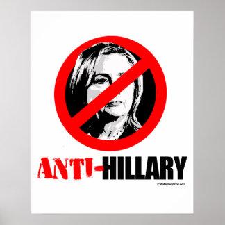 ANTI-HILLARY BOLDER - Anti Hillary png.png Poster