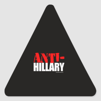 ANTI-HILLARY BOLDEST - Anti Hillarypng white -.png Triangle Sticker