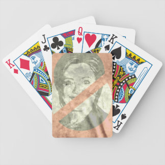 ANTI-HILLARY CLINTON BICYCLE PLAYING CARDS