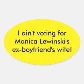 Anti - Hillary Clinton bumper sticker