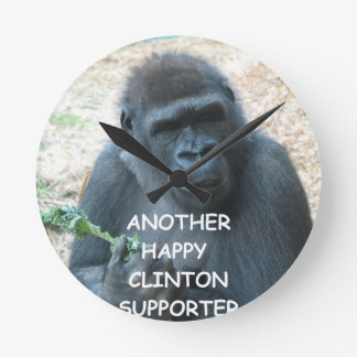 anti hillary clinton round clocks