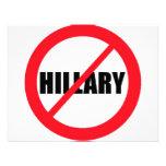 Anti-Hillary Clinton Custom Announcement