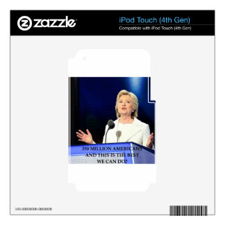anti hillary clinton decal for iPod touch 4G
