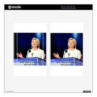 anti hillary clinton decals for kindle fire