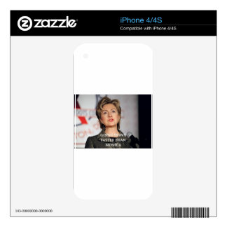 anti hillary clinton decals for the iPhone 4S