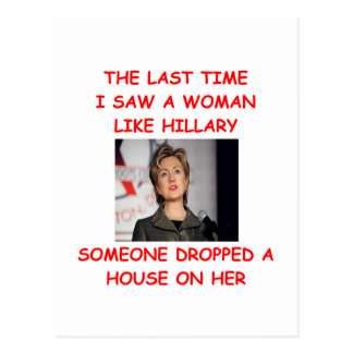 anti hillary clinton post cards