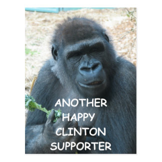 anti hillary clinton postcard