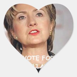anti hillary clinton heart sticker