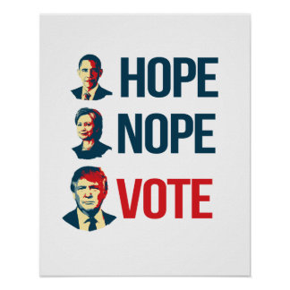 Anti-Hillary - Hope Nope Vote - - Anti-Hillary -.p Poster