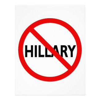 Anti Hillary Letterhead