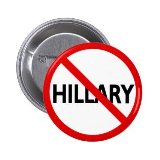 Anti Hillary Pinback Button