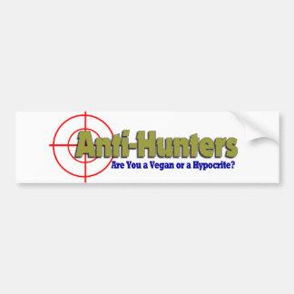 Anti-Hunters Bumper Sticker