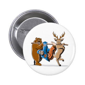 Anti Hunting Animal Revenge Button